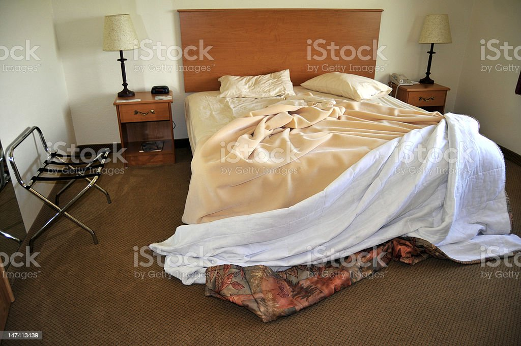 Hotel room in the morning royalty-free stock photo
