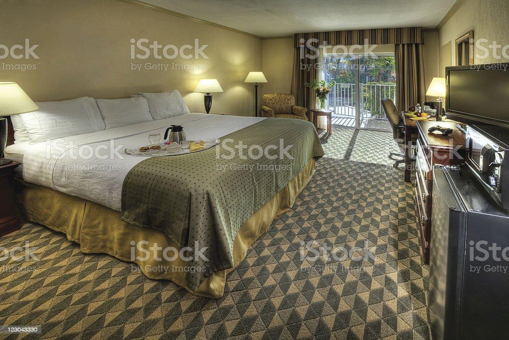 Hotel room in the tropics. stock photo