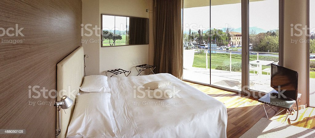Hotel room interior view royalty-free stock photo