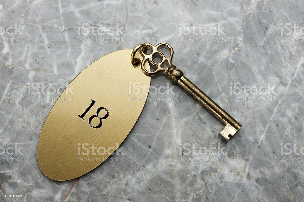 Hotel room key stock photo