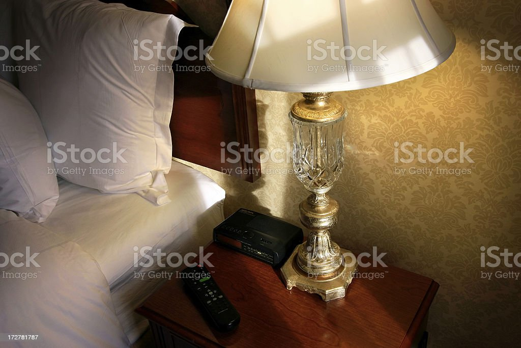 Hotel Room Night Stand royalty-free stock photo