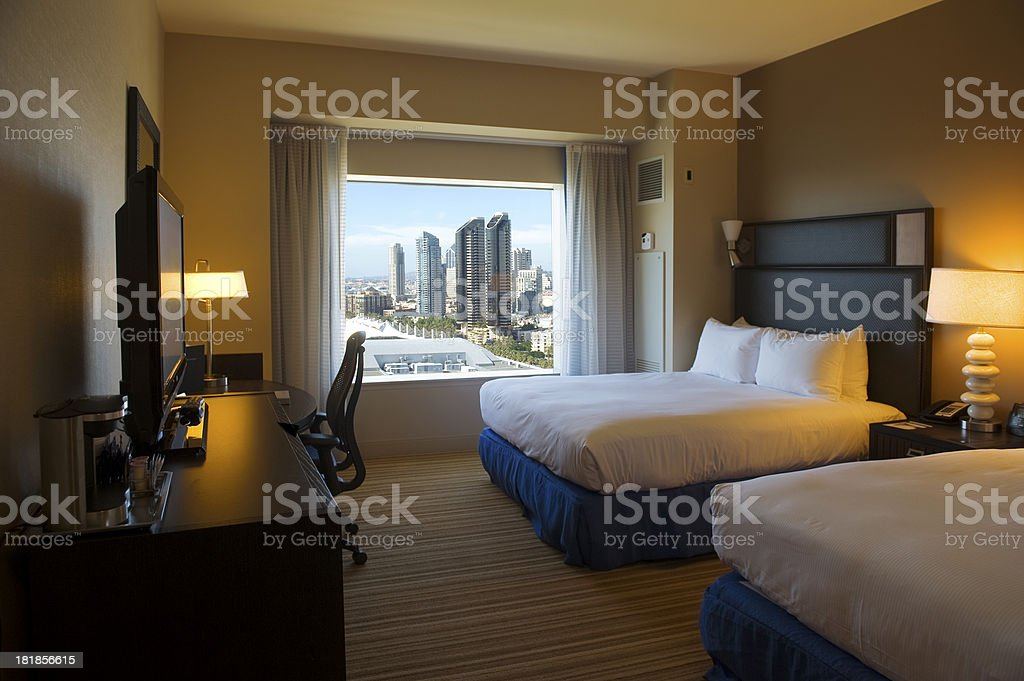 Hotel Room San Diego - California royalty-free stock photo