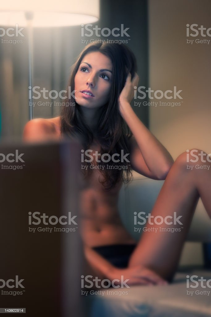 Hotel Room Seduction (XXXL) stock photo