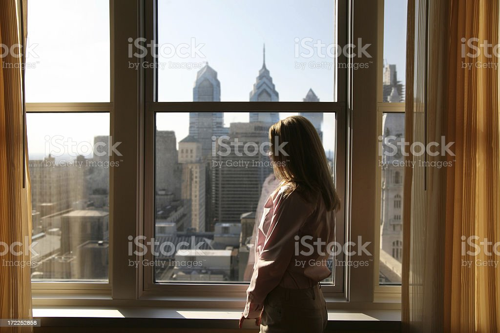 Hotel room with a view royalty-free stock photo