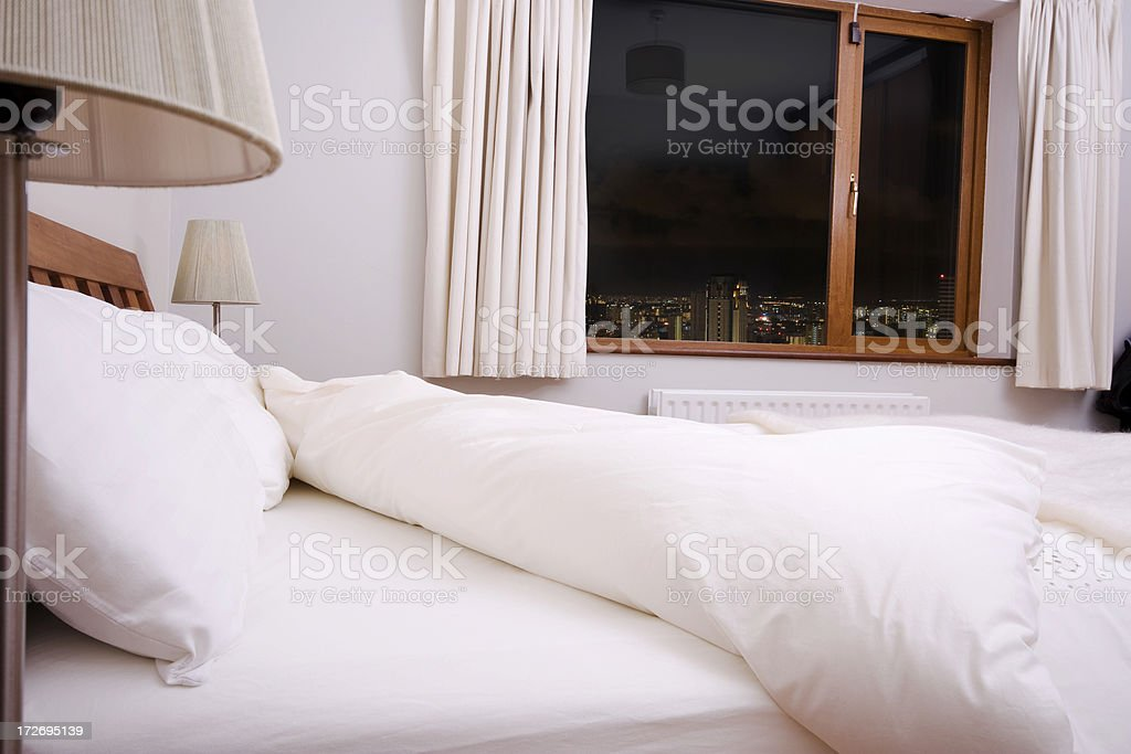 Hotel room with the view royalty-free stock photo