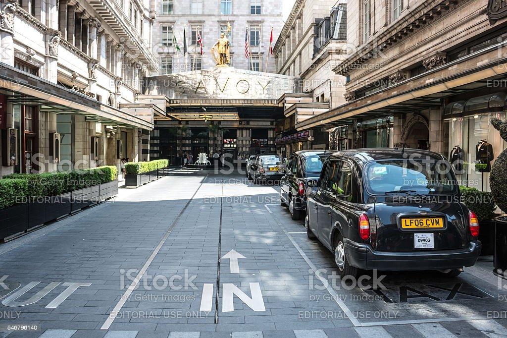 Hotel Savoy - London stock photo