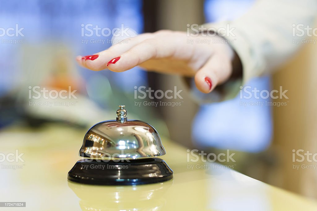 Hotel service bell royalty-free stock photo