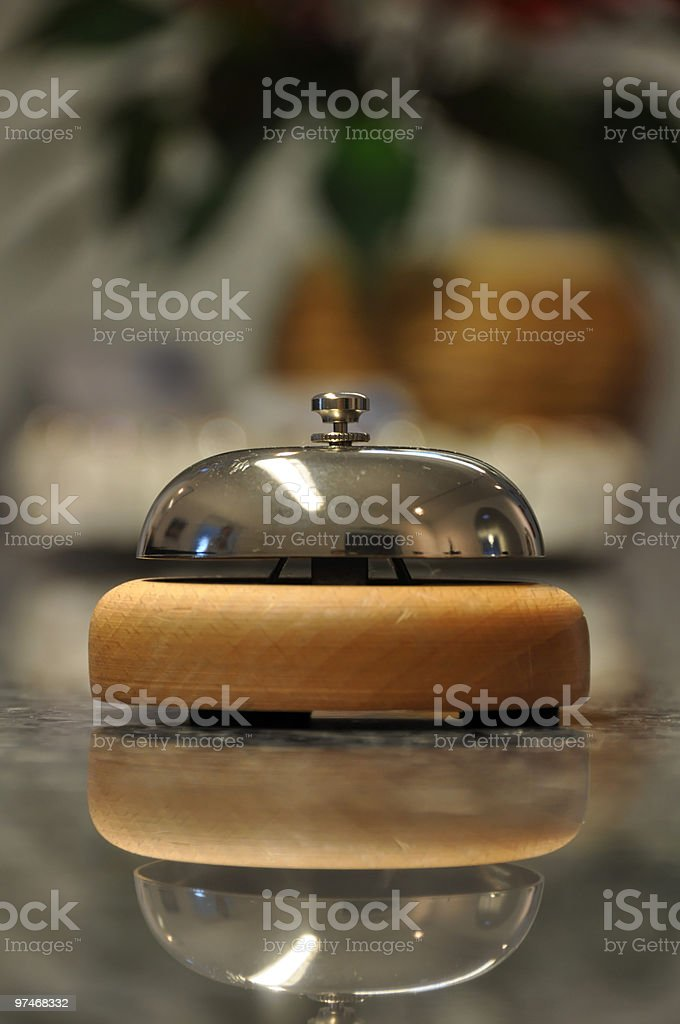 Hotel / service bell stock photo