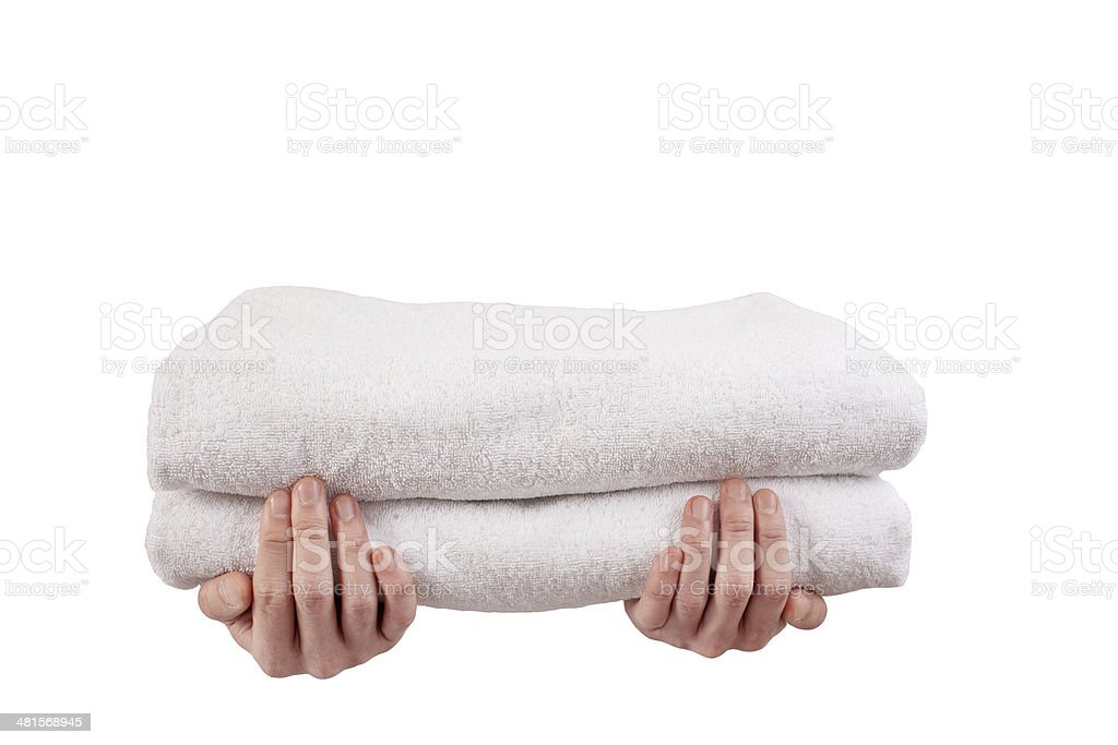 Hotel Service Towels royalty-free stock photo