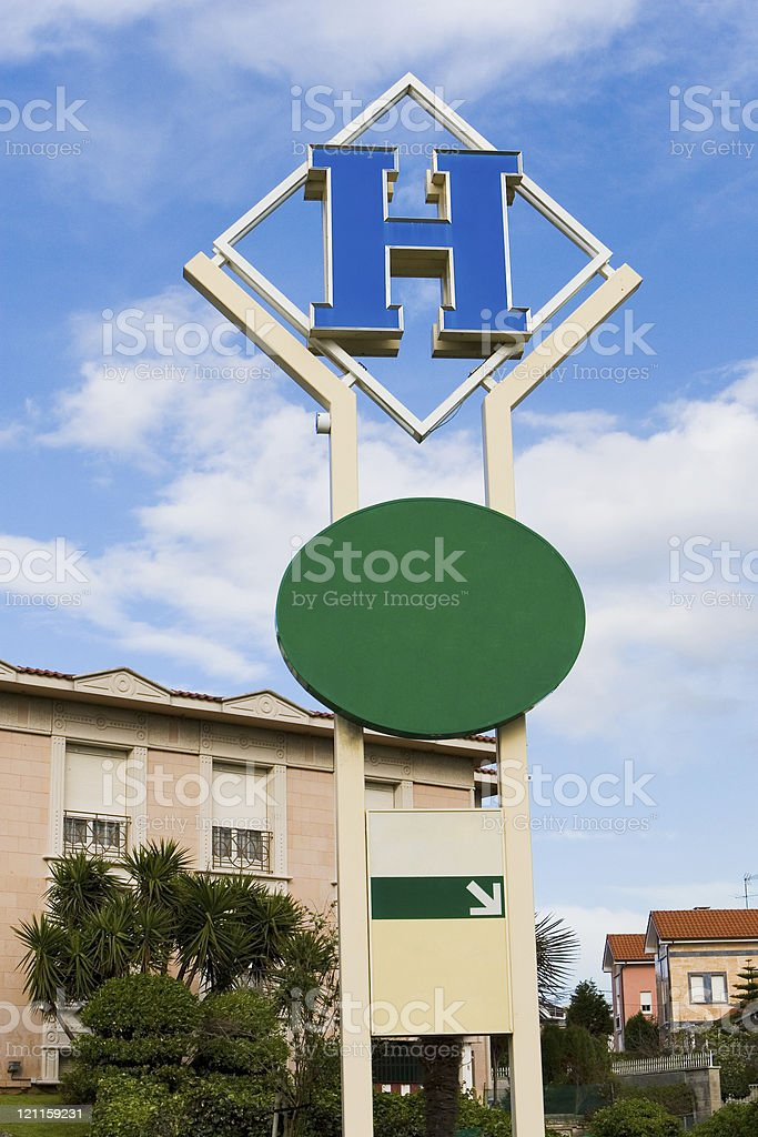 hotel sign and billboard royalty-free stock photo