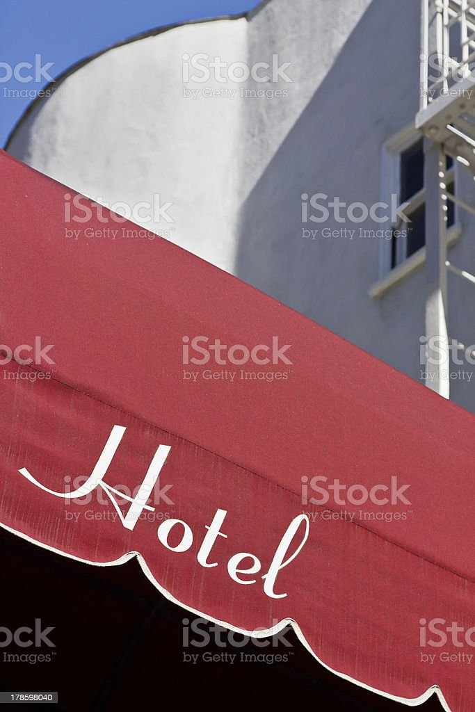 Hotel Sign royalty-free stock photo
