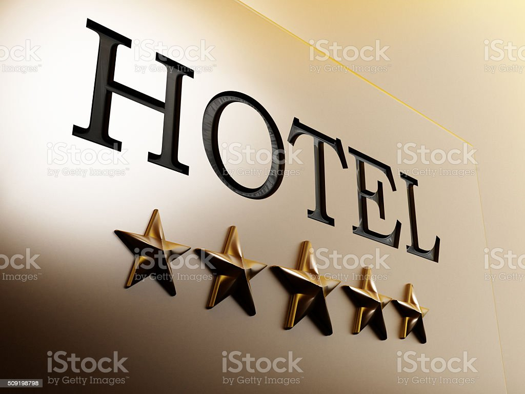 Hotel Sign stock photo