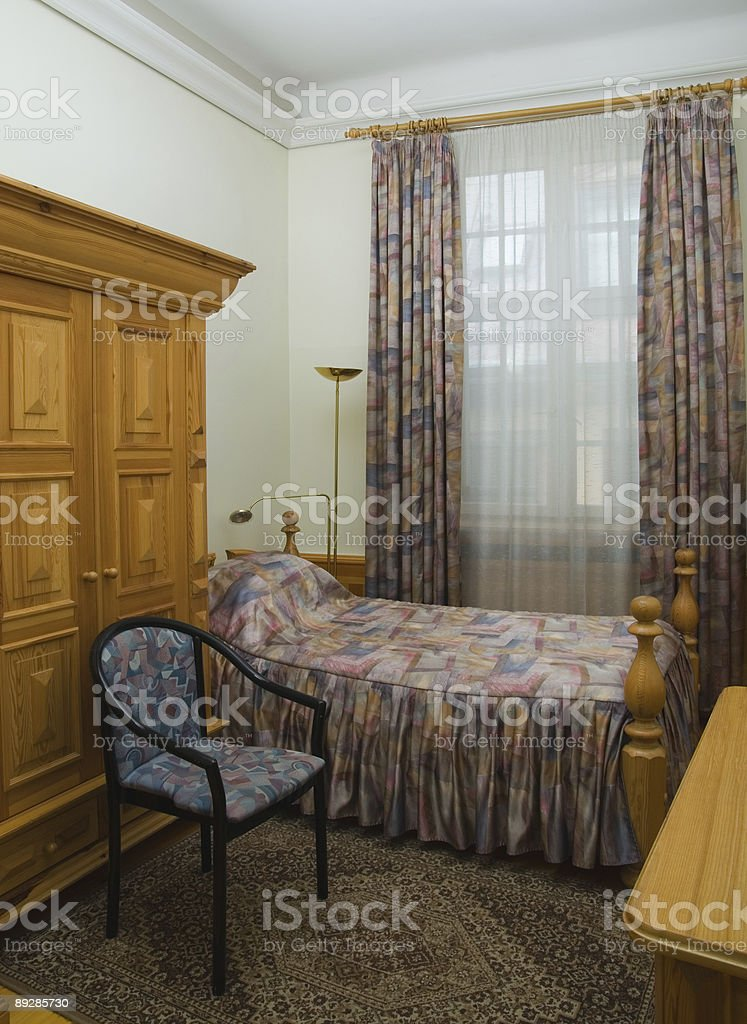Hotel single room royalty-free stock photo