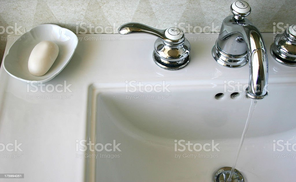 Hotel Sink stock photo
