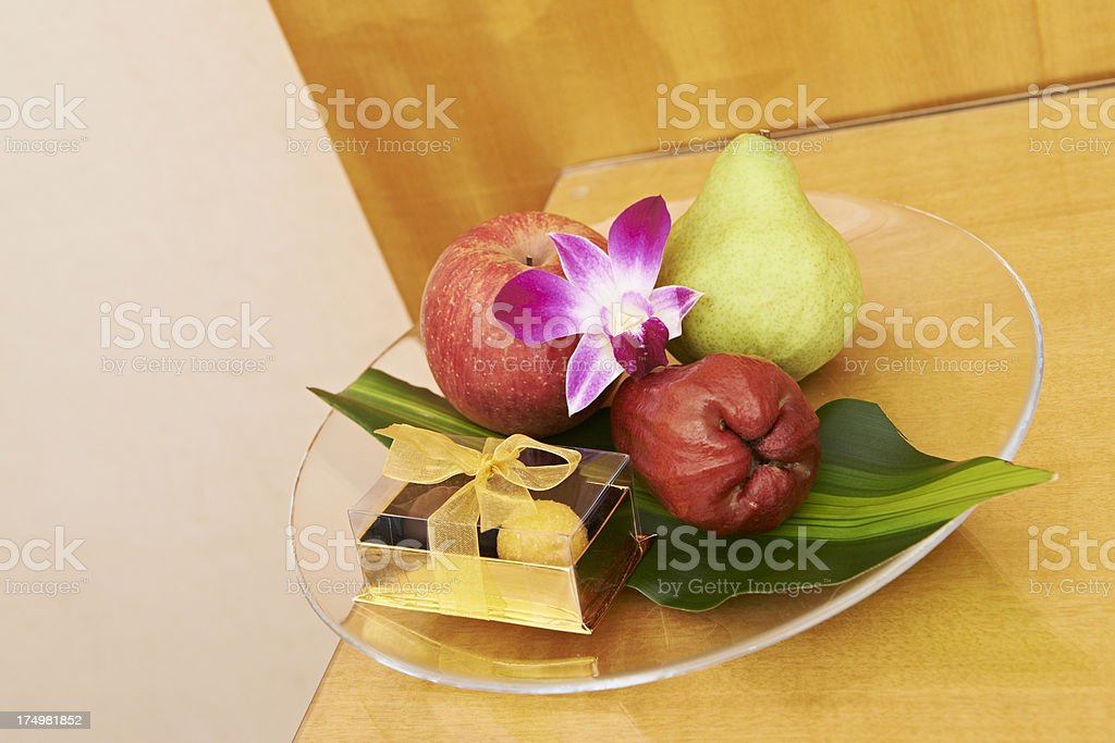Hotel Snack Plate stock photo