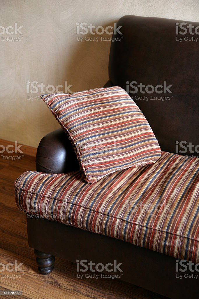 hotel, Sofa with pillow royalty-free stock photo
