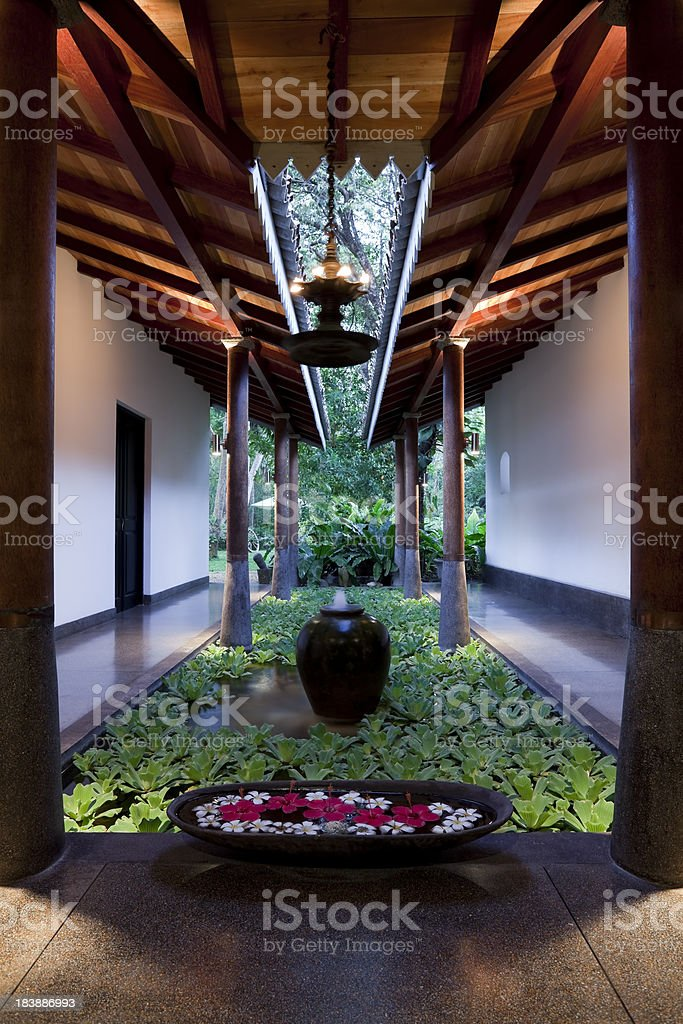 hotel sri lanka royalty-free stock photo