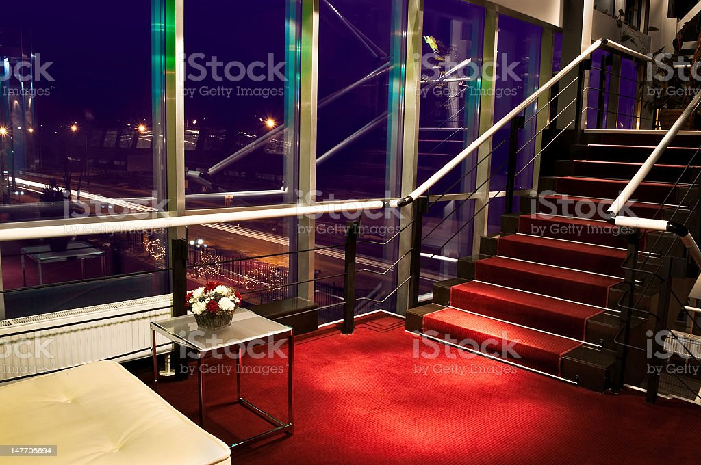 Hotel Staircase royalty-free stock photo