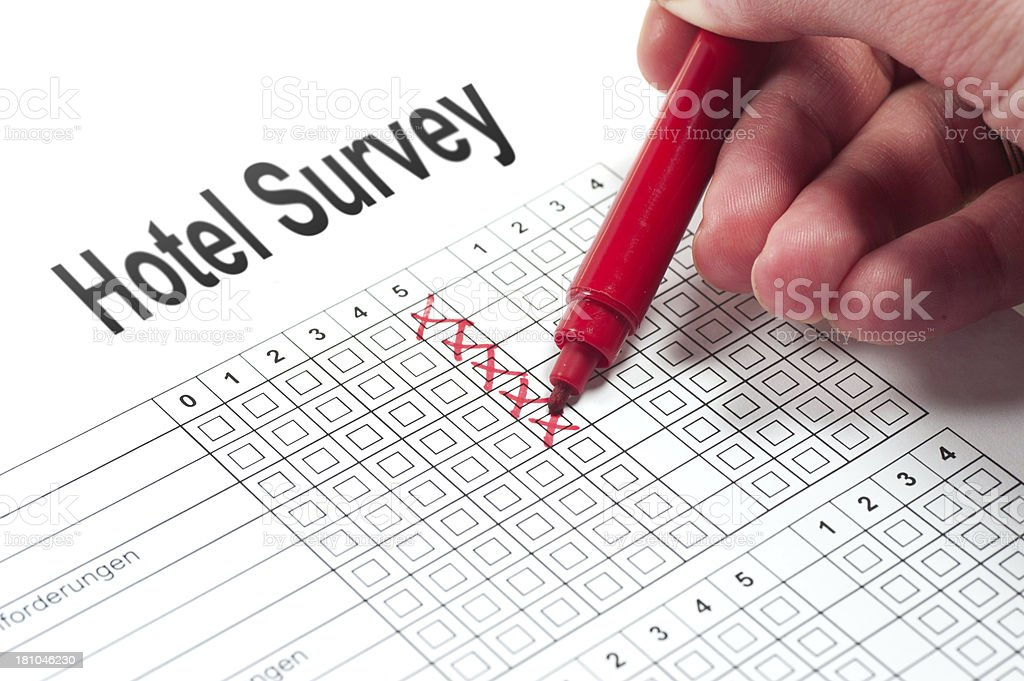 Hotel Survey stock photo