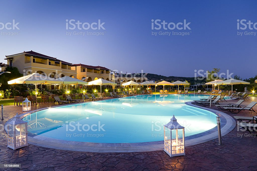 Hotel swimming pool stock photo