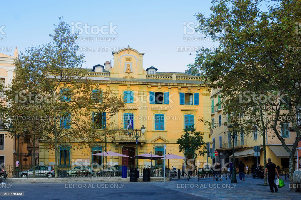Hotel the Ville, Bastia stock photo