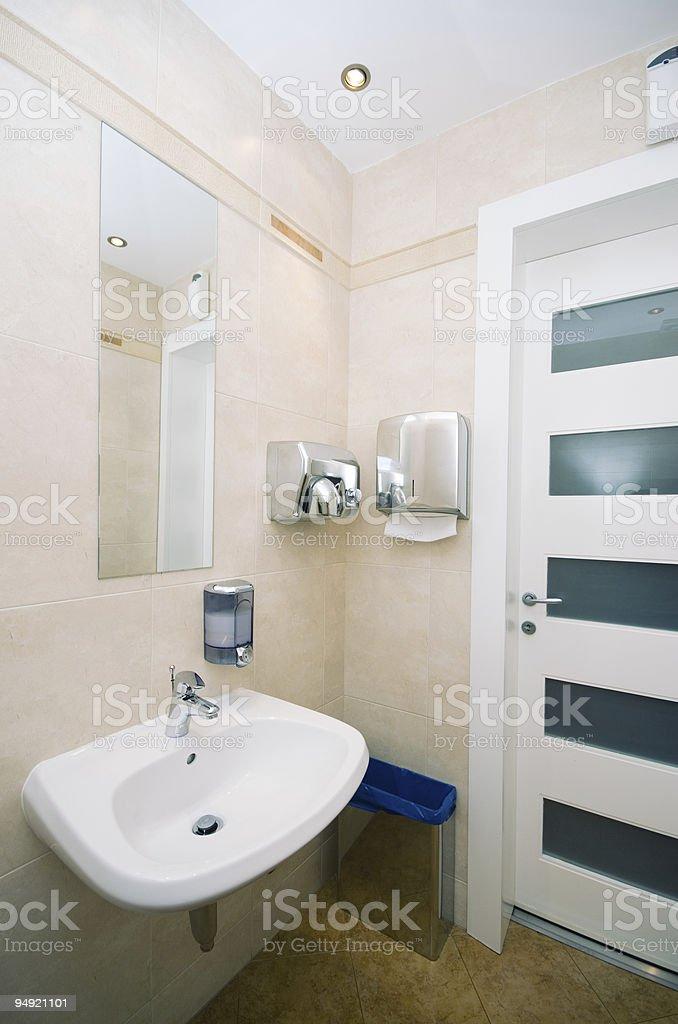 Hotel toilet stock photo