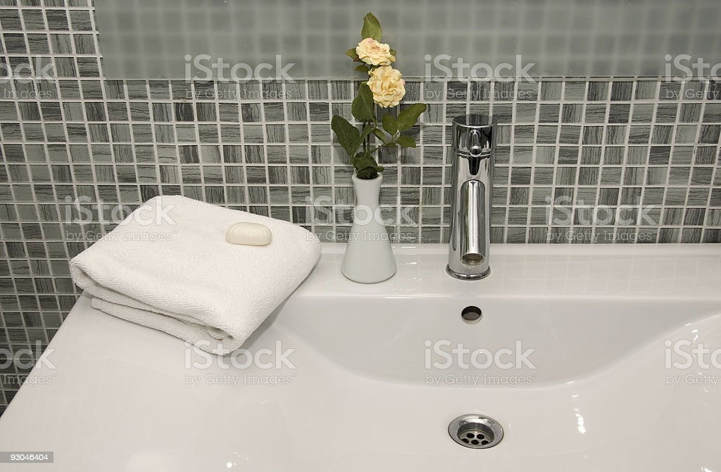 Hotel Towels & Bathroom royalty-free stock photo