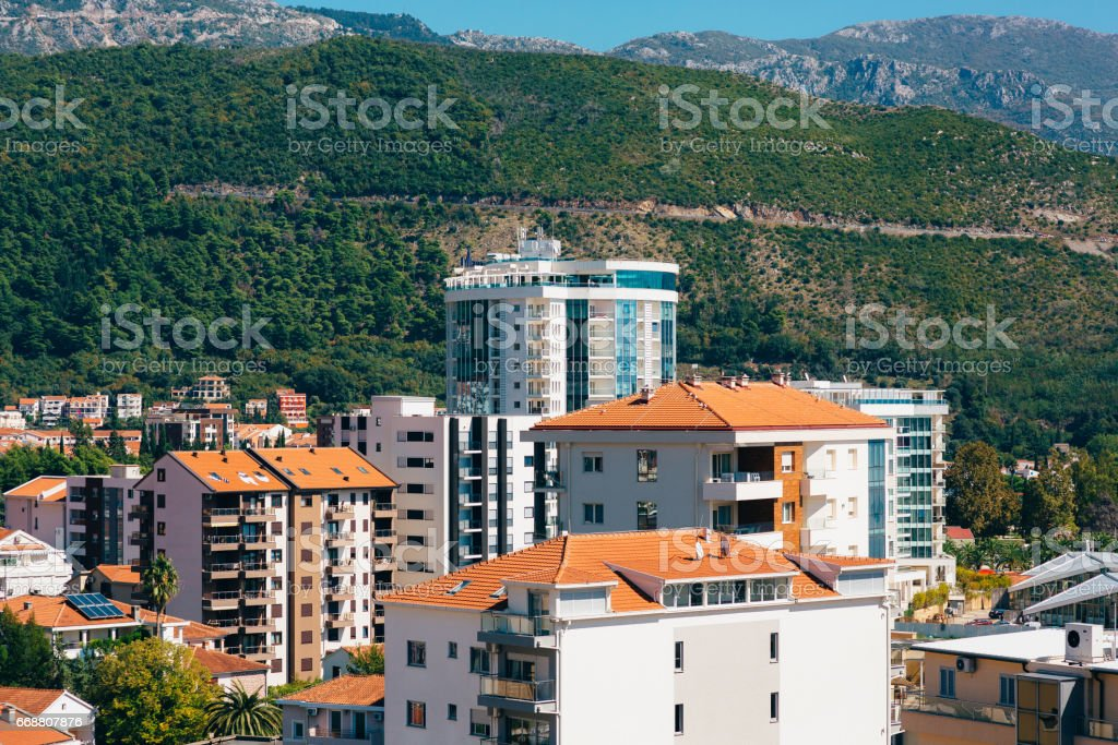 Hotel Tre Canne on the coast stock photo