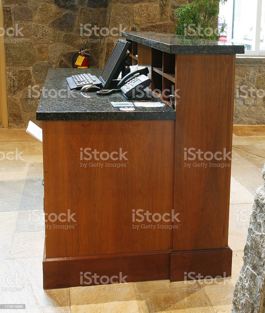 Hotel valet desk royalty-free stock photo