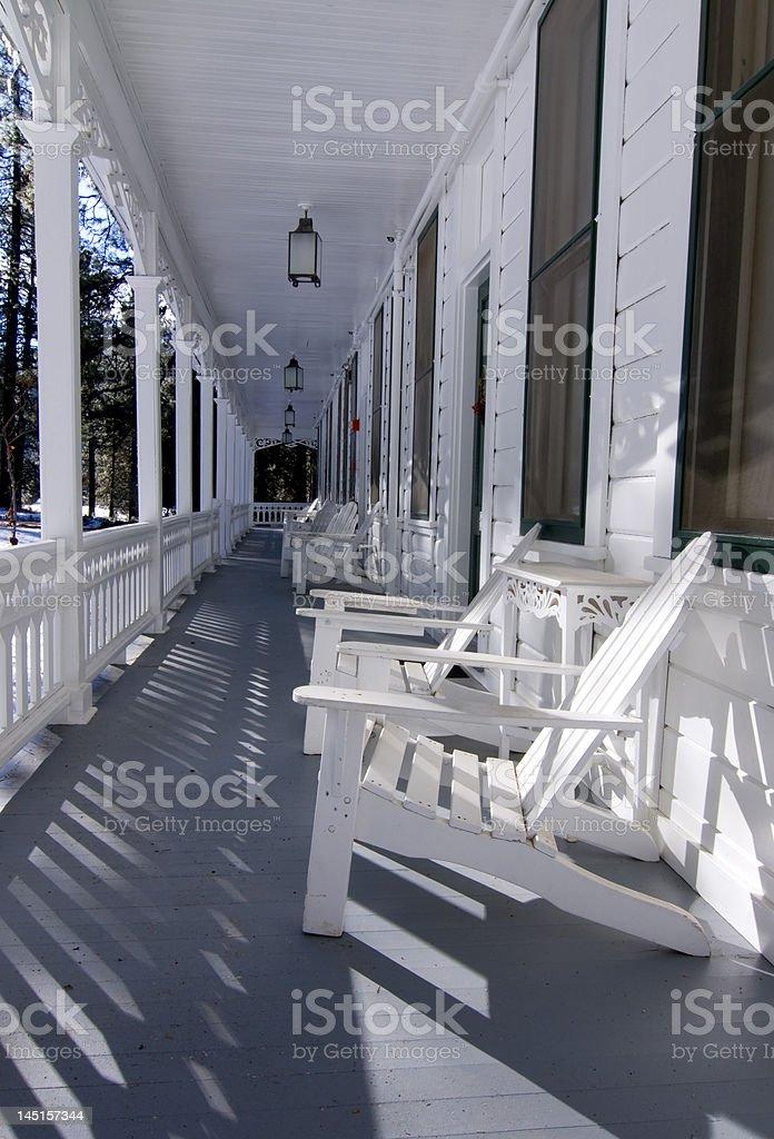Hotel Veranda stock photo