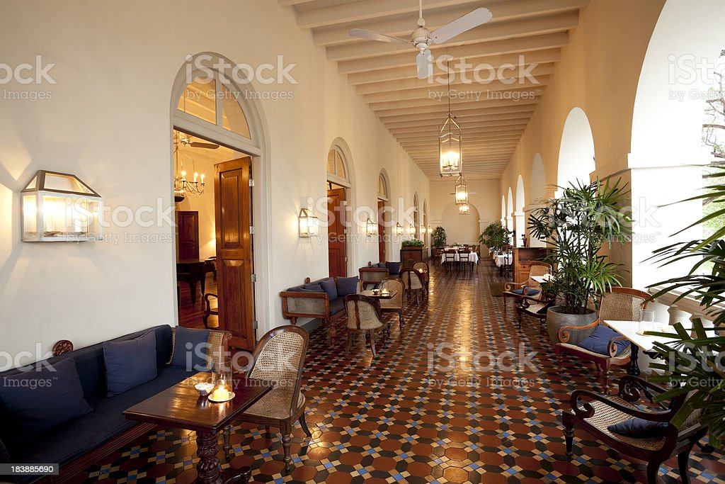 hotel veranda royalty-free stock photo