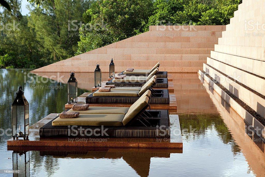 hotel villa swimming pool royalty-free stock photo