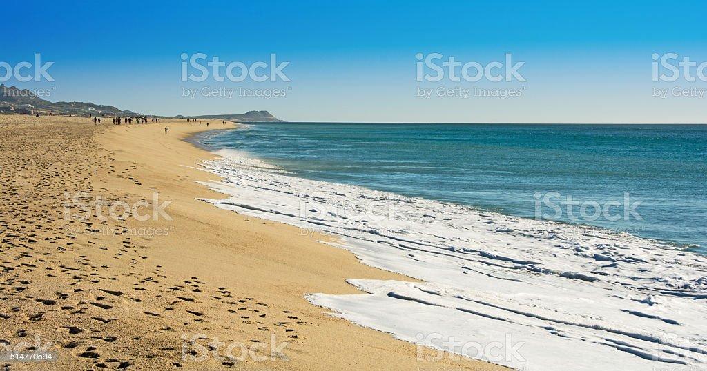 Hotel zone beach- San Jose Del Cabo- Sea of Cortez stock photo