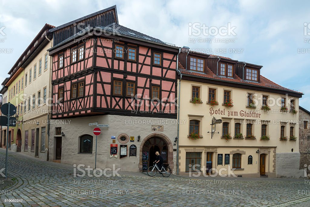 Hotel zum Stadttor in Kahla, Thuringia, Germany stock photo