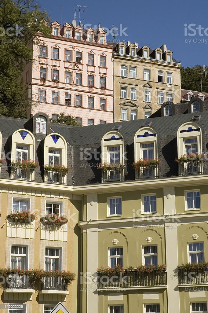 Hotels and Apartments royalty-free stock photo