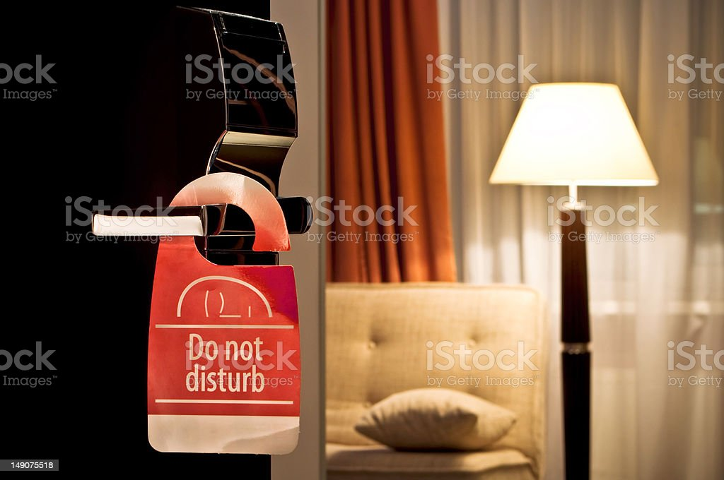 hotel`s door stock photo