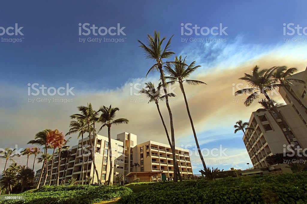 Hotels in Maui stock photo