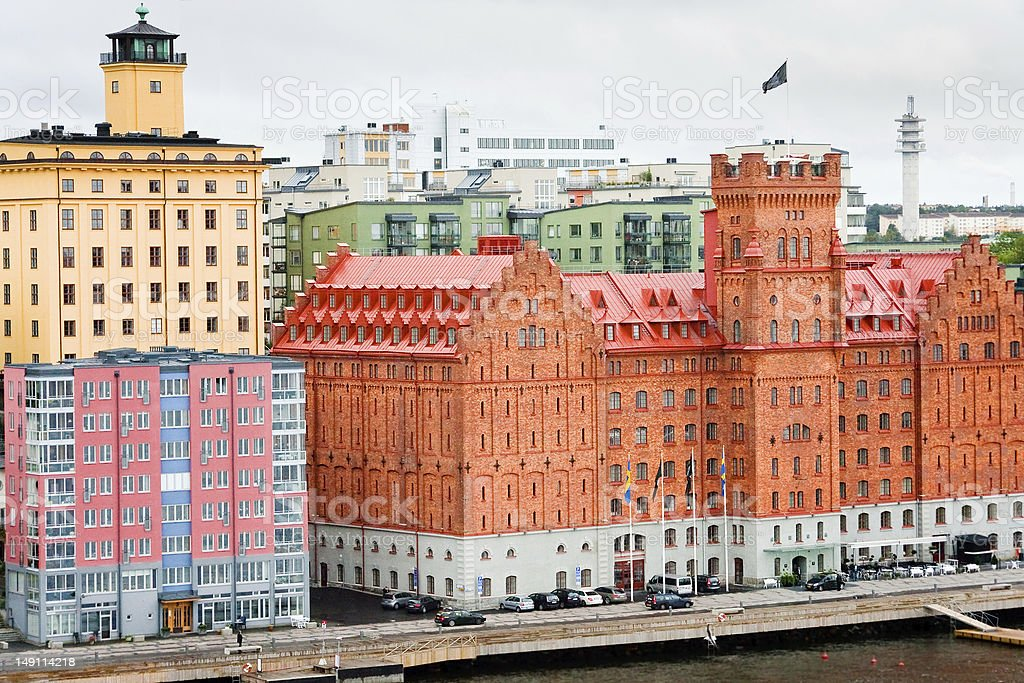 Hotels in Stockholm, Sweden royalty-free stock photo