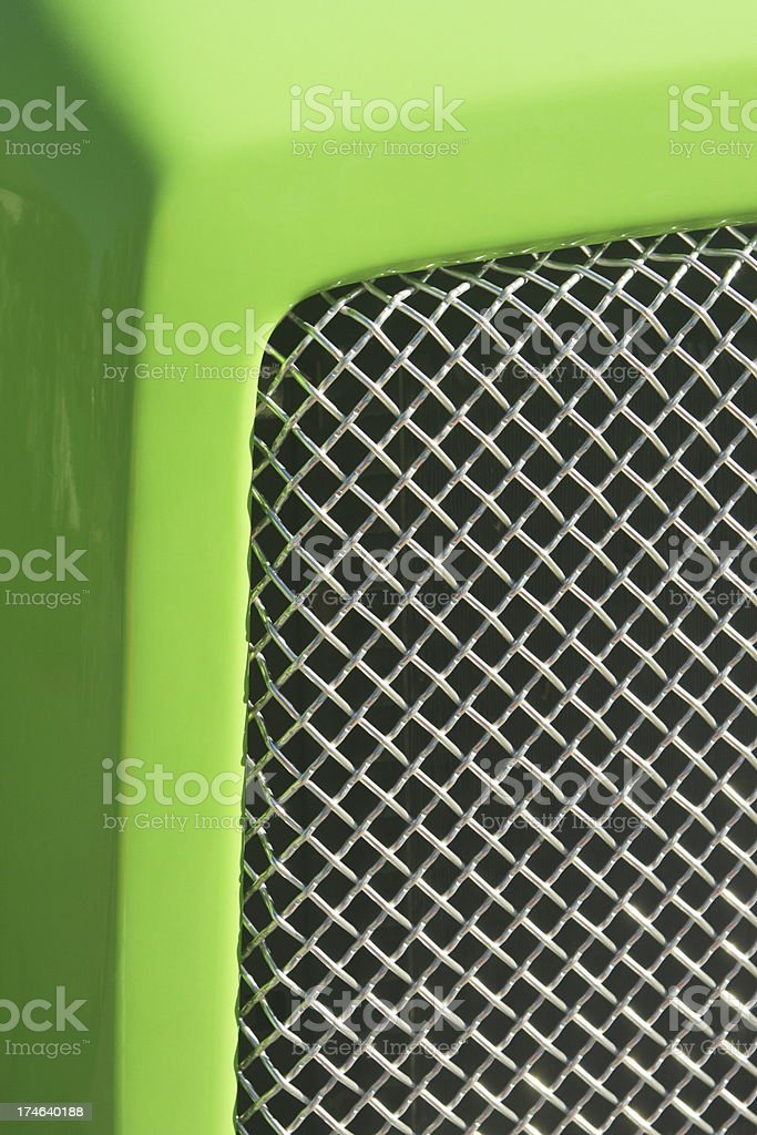 Hotrod Grille Car Body Hood royalty-free stock photo