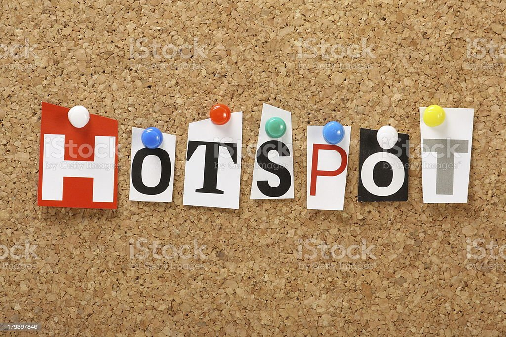 Hotspot royalty-free stock photo