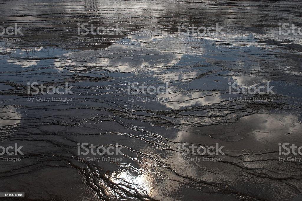 hotsprings runoff royalty-free stock photo