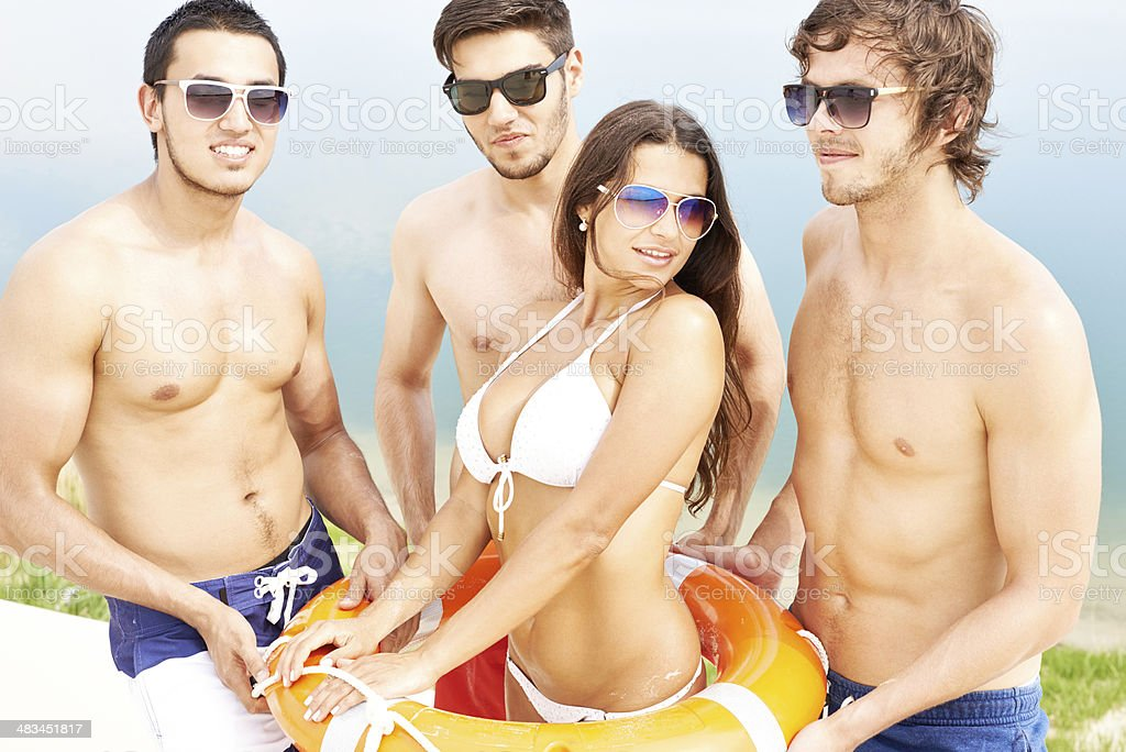 Hottest lifeguards royalty-free stock photo