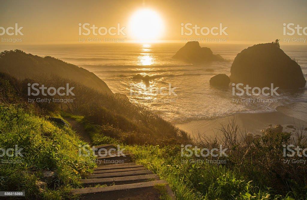 Houda Point Sun stock photo