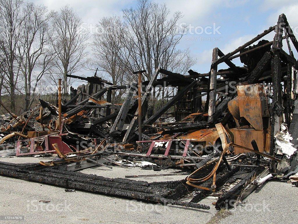 Houe fire royalty-free stock photo