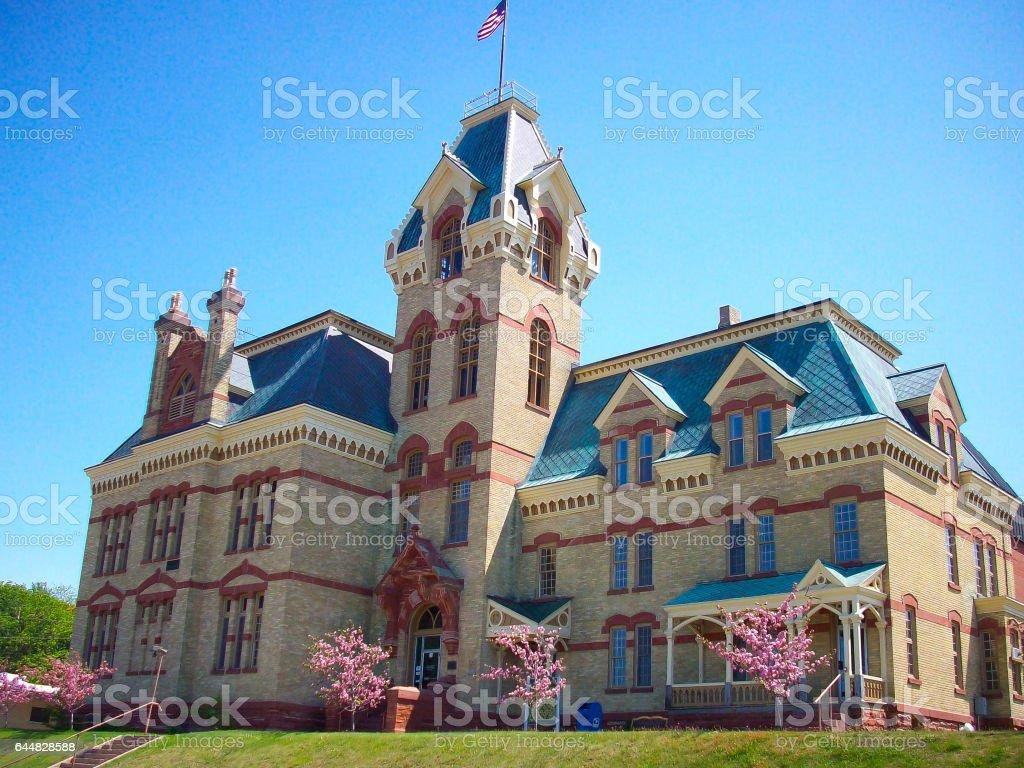 Houghton County Courthouse stock photo