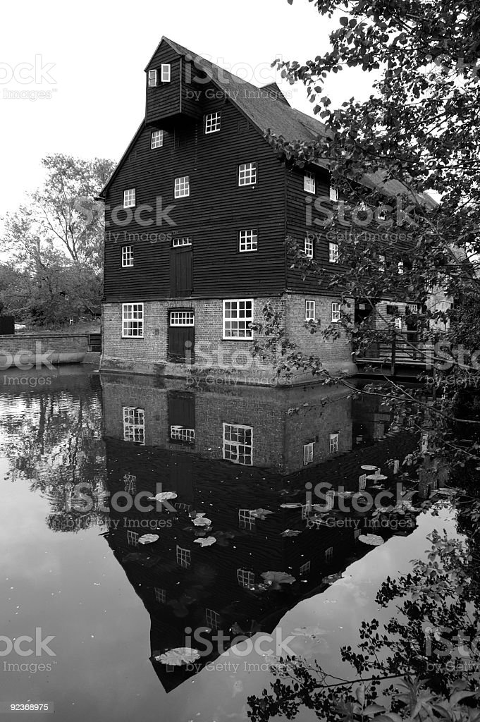 Houghton Water mill stock photo