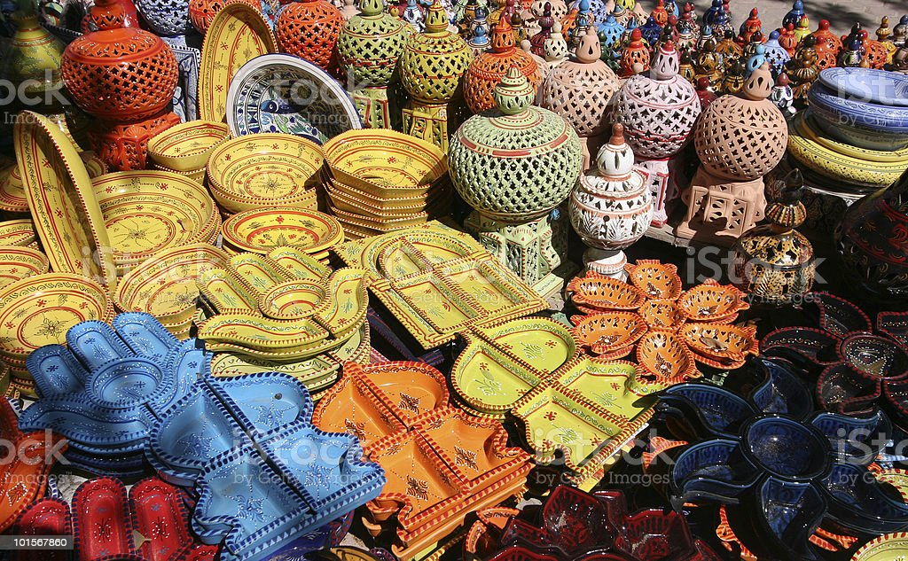 Houmt souk poteries, Djerba Tunisie #1 royalty-free stock photo