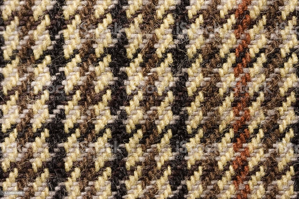 Houndstooth Fabric macro royalty-free stock photo