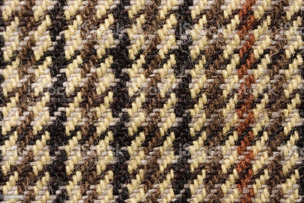 Houndstooth Fabric macro stock photo