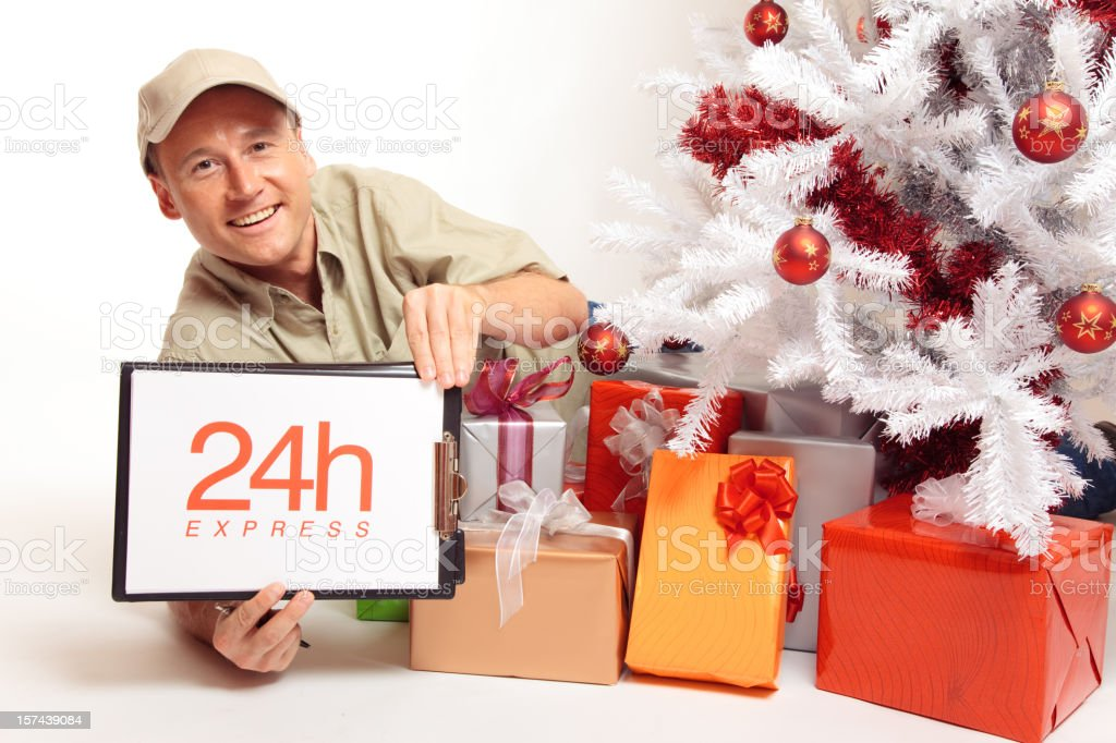 24 hour express delivery, even on christmas! royalty-free stock photo